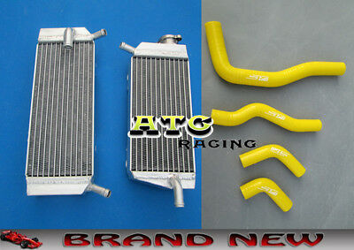 Aluminum Radiator and yellow hose For Honda CRF450X CRF 450 X 05-11 07 08 09