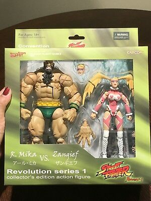 SOTA Toys Street Fighter SDCC Exclusive ZANGIEF vs. R. MIKA Action Figure Set!