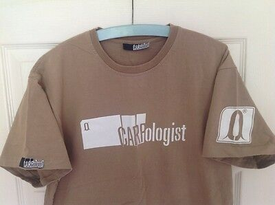 Carpology-Carpologist Large Beige T Shirt With Back/Shoulder Print Carp Fishing