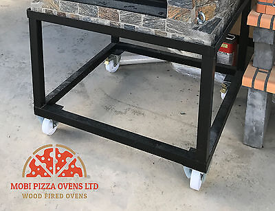 HEAVY DUTY 100X100 TROLLEY MOBILE STAND for PIZZA OVEN