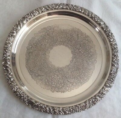 Silverplated 28cm Hecworth Tray - Reproduction, Old Sheffield
