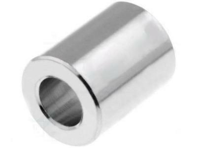 DR315/2.6x5 Spacer sleeve 5mm cylindrical brass nickel Out.diam:5mm  DREMEC