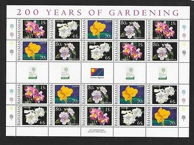 Bahamas 2004 Bicentenary of Royal Horticultural Society Unmounted MINT Sheetlet