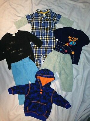 Lot Of Baby Boy Clothes Size 12 Months
