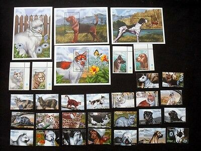 Uganda 2001 Cats and Dogs Unmounted MINT Set SG 2294-2322