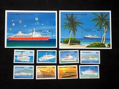 Barbuda 1989 Caribbean Cruise Ships 1989 Unmounted MINT Stamps & Mini Sheets