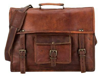 Bag Retro Leather Men S Shoulder Satchel Messenger Briefcase Laptop Business New