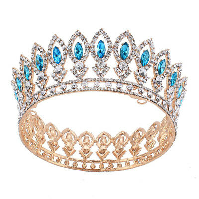 2 inch Heigh Marquise Crown Hair Accessory Wedding Keen Queen Clear Crystal