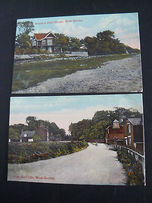 Near the Cliffs West Mersea Postcard & Beach & Boat House West Mersea Postcard