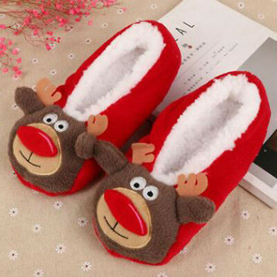 Women Men Winter Xmas Warm Antiskid Slippers Soft Plush Indoor Couple Shoes Hot