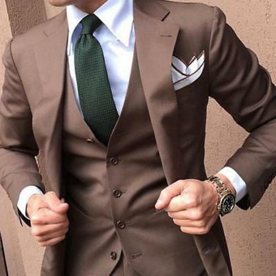 Slim Fit Mens Suits Three Pieces Groomsmen Business Party Formal Tuxedos Custom