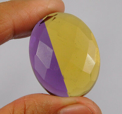 37 Cts. Treated Faceted Ametrine Cut Loose Cabochon Gemstone (NH984)
