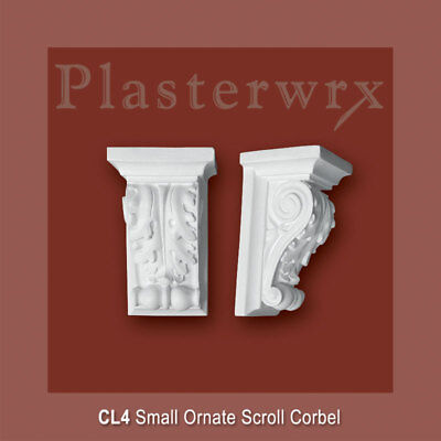 plasterwrx Small Ornate Scroll Plaster Corbel (CL4)   ( free postage )