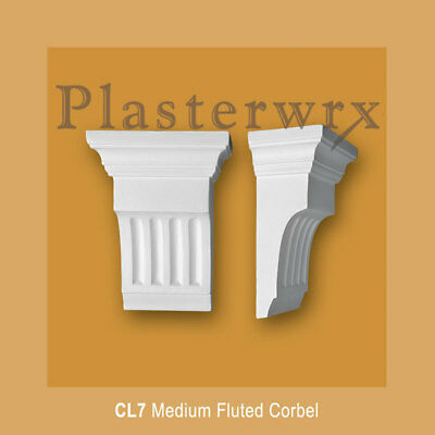 Medium plain  Fluted Plaster Corbel (CL7) plasterwrx corbels