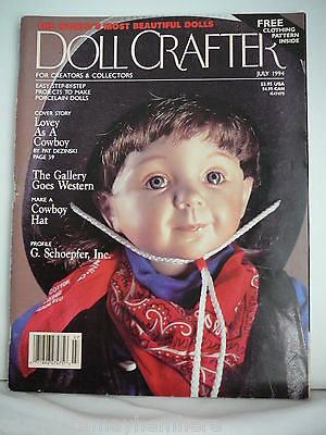 Doll Crafter July 1994 - Cowboy Hat, The Gallery goes Western