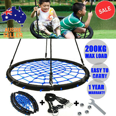 """40"""" Large Tree Nest Swing Spider Web Kids Ring Seat House Outdoor Play Equipment"""