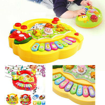 Kids Baby Toddler Infant Musical Farm Piano Developmental Toy Educational Game