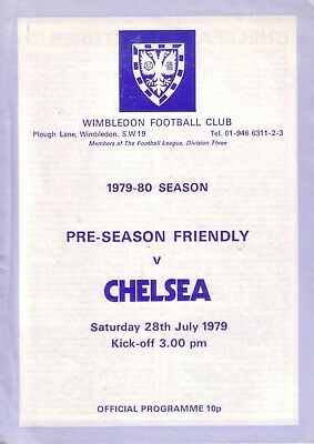 WIMBLEDON v CHELSEA 1979/80 FRIENDLY