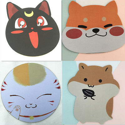 Cute Cartoon Animal Dog Hamster Cat Head Mouse Pad Office Computer Table Gift