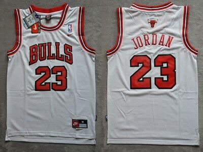 NBA Michael Jordan #23 Chicago Bulls RETRO white swingman jersey - S/M/L