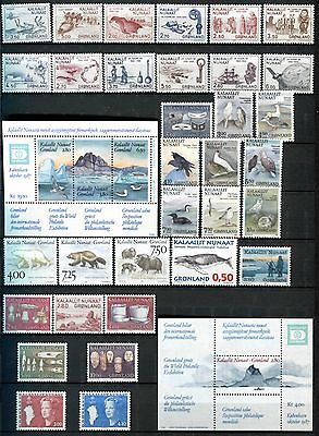 Greenland  1981 – 1996 **** 37 Mnh / Mint Stamps Inc World Philatelic Exposition