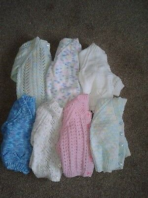 7 hand knitted cardigans for 18-24 months