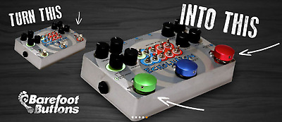NEW! Barefoot Buttons - Version 1 Red ROT NEU & OVP Effect Pedal Hilfe