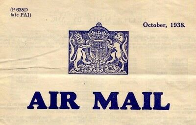 MS3849 1938 Great Britain AIRMAIL Full Post Office Price Guide