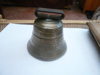 Antique Victorian Old Vintage Large Size Cattle Bull Ox Animal Brass Neck Bell