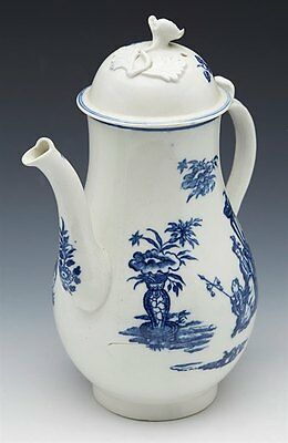 Antique Caughley Bell Toy Pattern Coffee Pot 18Th C.