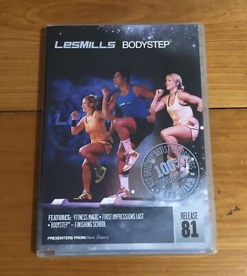 Les Mills BodyStep 81 covers  DVD and CD Pack