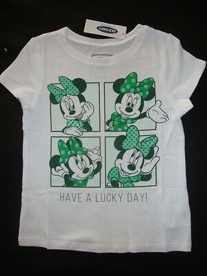 """Old Navy / Disney """"minnie Mouse"""" Tee Shirt Nwt """"have A Lucky Day"""" St Patricks"""