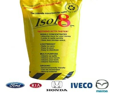 New! ISOL8 ORGANIC ABSORBENT SPILL GRANULES BAG WORKSHOP/GARAGE CLEAN UP