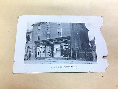 Original  Postcard Post Office Wigston Magna Leicestershire