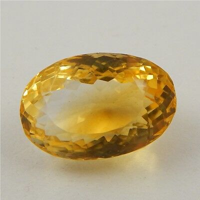 19.9 cts Natural Yellow Citrine Gemstone Beautiful Loose Cut Faceted R#260-5