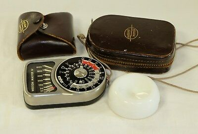 Weston Master 4 exposure meter with invercone and cases