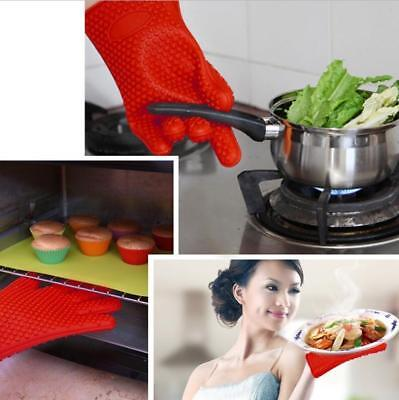 Barbecue Heat Resistant Silicone Gloves Oven Kitchen Grill BBQ Cooking Mitts