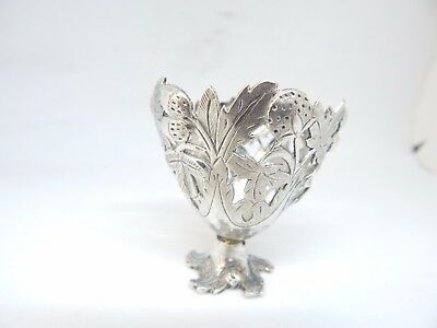 Sterling Silver Antique Patterned Egg Cup.