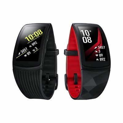 Red or Black Samsung Gear Fit2 Pro R365 Fitness Smartwatch Small or Large Strap