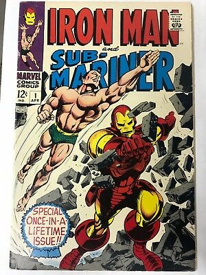 Iron Man & Sub-Mariner #1 (Apr 1968, Marvel) VF +