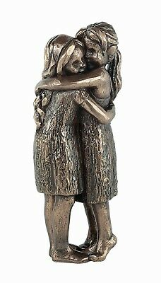 'Love Life - Friendship Forever' cold cast bronze figurine lovely gift Genesis