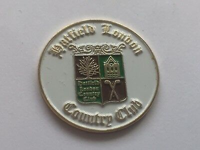 Rare Golf Ball Marker Hatfield London Country Club - Excellent Condition