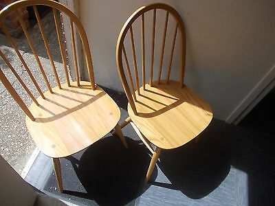 Ercol Windsor Pair Of Dining Chairs