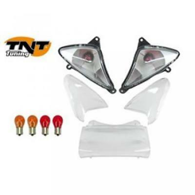 Flashing Cabochon tail light AR scooter Yamaha Tmax 500 01-07 smooth transparent