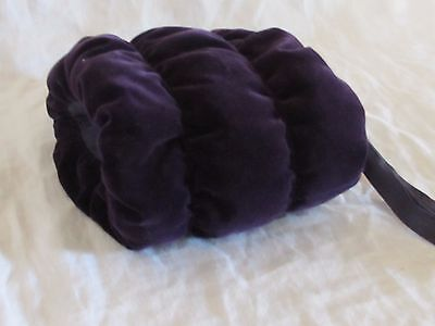 Antique Vintage Child's Purple Velvet Muff Hand Warmer Estate