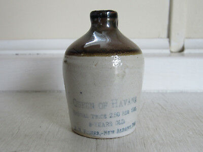 Stoneware Mini Advertising Jug Scarce Indiana C-1900