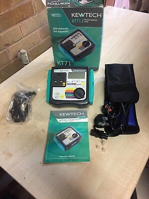 Kewtech KT71 PAT Portable Appliance Tester, Auto Test Sequence in Box