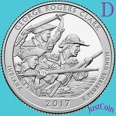 2017-D George Rogers Clark (Indiana) National Park Uncirculated Quarter