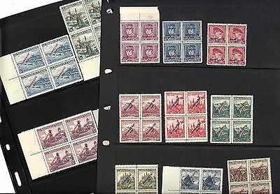 CZECHOSLOVAKIA, OLD MINT NH Stamps in blocks, forged GILBERT signature on back