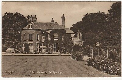 TUCK'S PRINTED  PHOTO POSTCARD OF THE VICARAGE, WILLOUGHBY,  LINCOLNSHIRE c1953